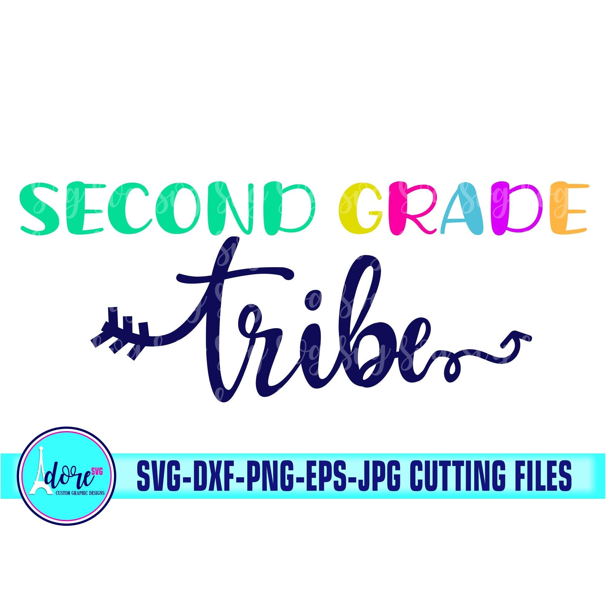 2nd Grade Tribe Svg First Day Of School Svg School Svg My Tribe Svg Teacher Svg For Cricut Beginning Of Year 2nd Grade Svg Back To School Svg For Cricut