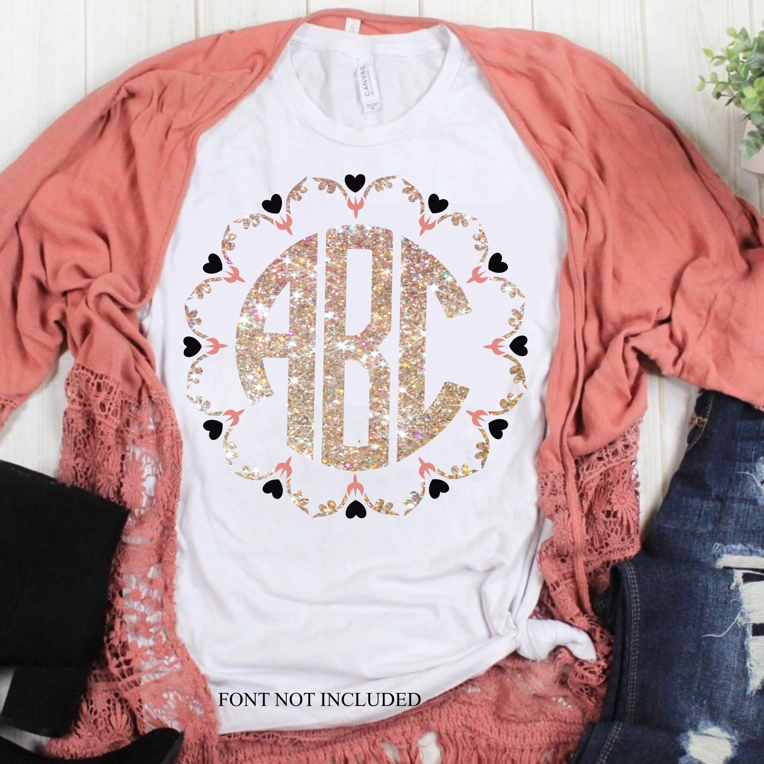 Angel Wings Heart Monogram Svg Heart Monogram Svg Eps Dxf Files For Cutting Machines Cameo Cricut Key Svg Hearts Heart Svg Svg For Cricut Svg For Cricut