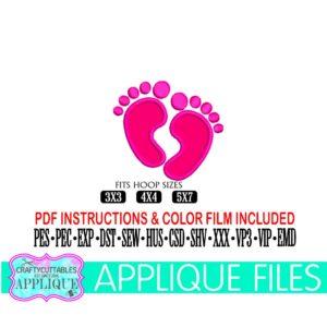Baby-feet-appliquebaby-appliquebaby-embroiderybaby-foot-appliquenew-baby-foot-embroideryapplique-filecricut-designssilhouette-designs-5e21d532