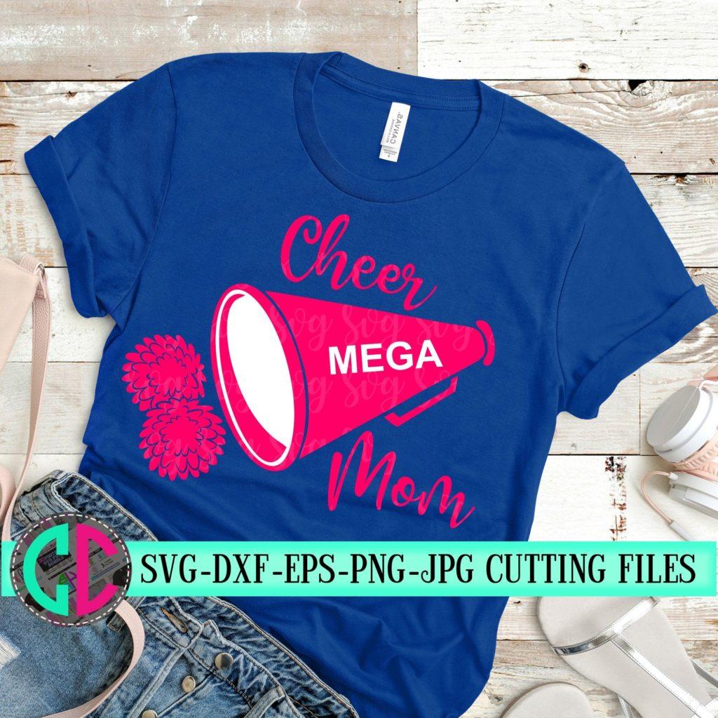 Cheer Mom Megaphone Svg Cheer Mom Svg Cheerleader Svg Football Svg Cheerleader Cut File Football Mom Svg Svg For Cricut Eps Dxf Svg For Cricut