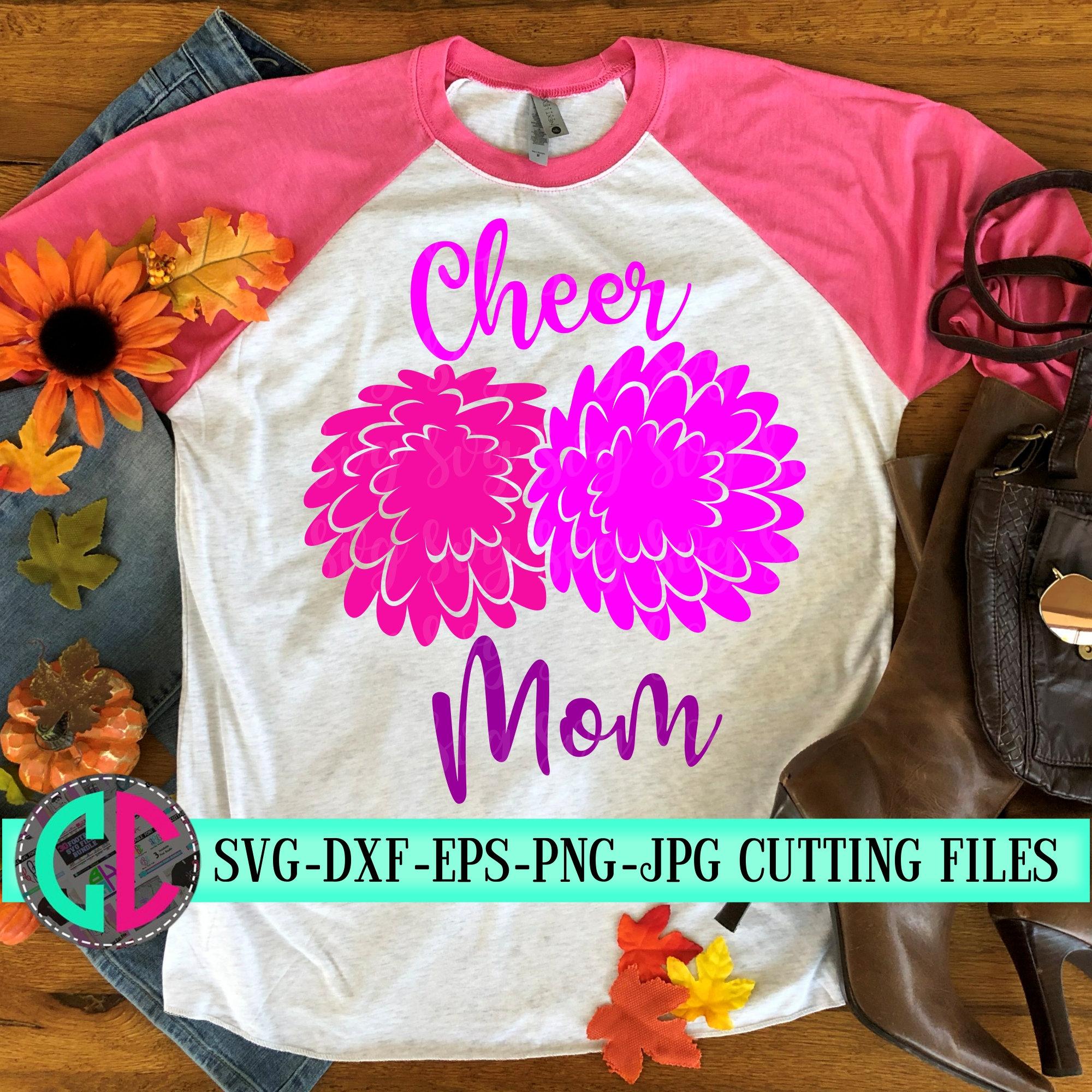 Cheer Mom Pom Pom Svg Cheer Mom Svg Cheerleader Svg Football Svg Cheerleader Cut File Football Mom Svg Svg For Cricut Eps Dxf Svg For Cricut