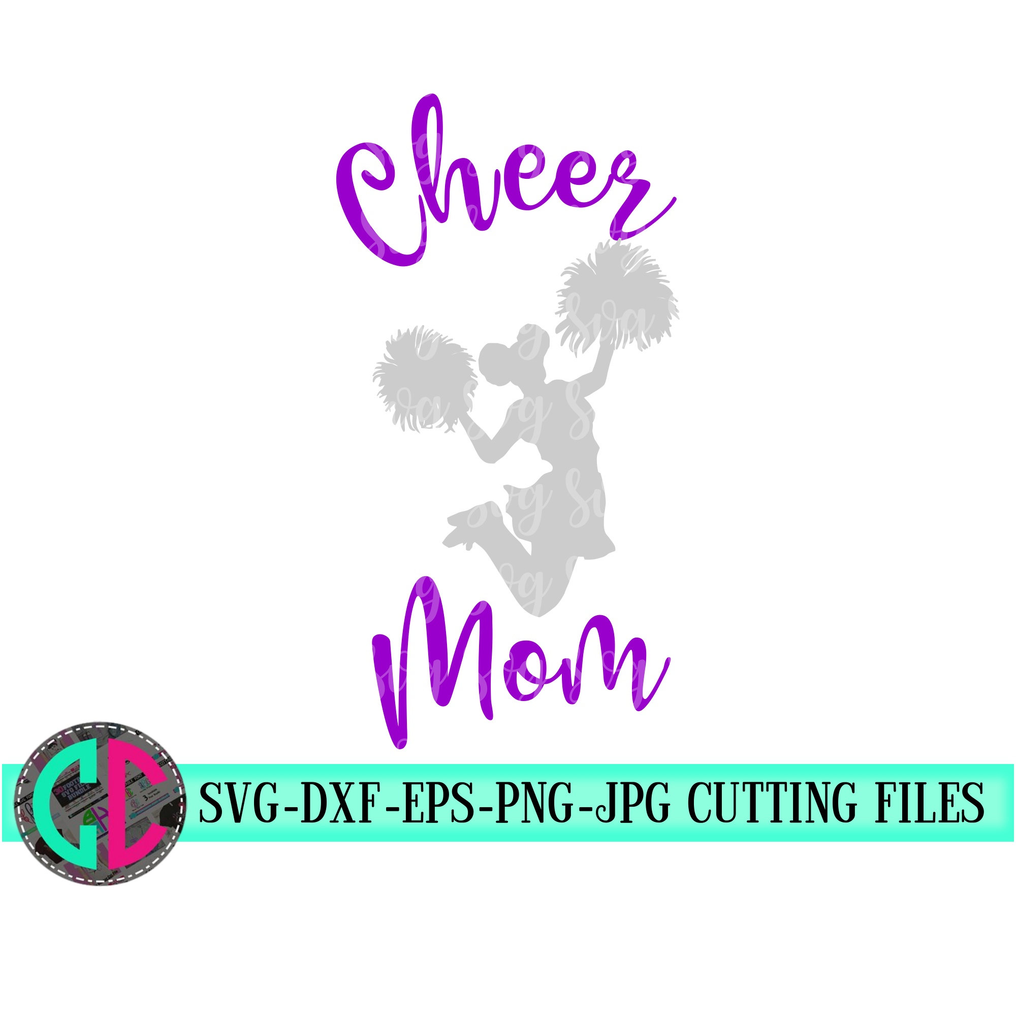 View Cheerleader Mom Svg | Cheer Svg | Silhouette | Cricut | Cutting File Design