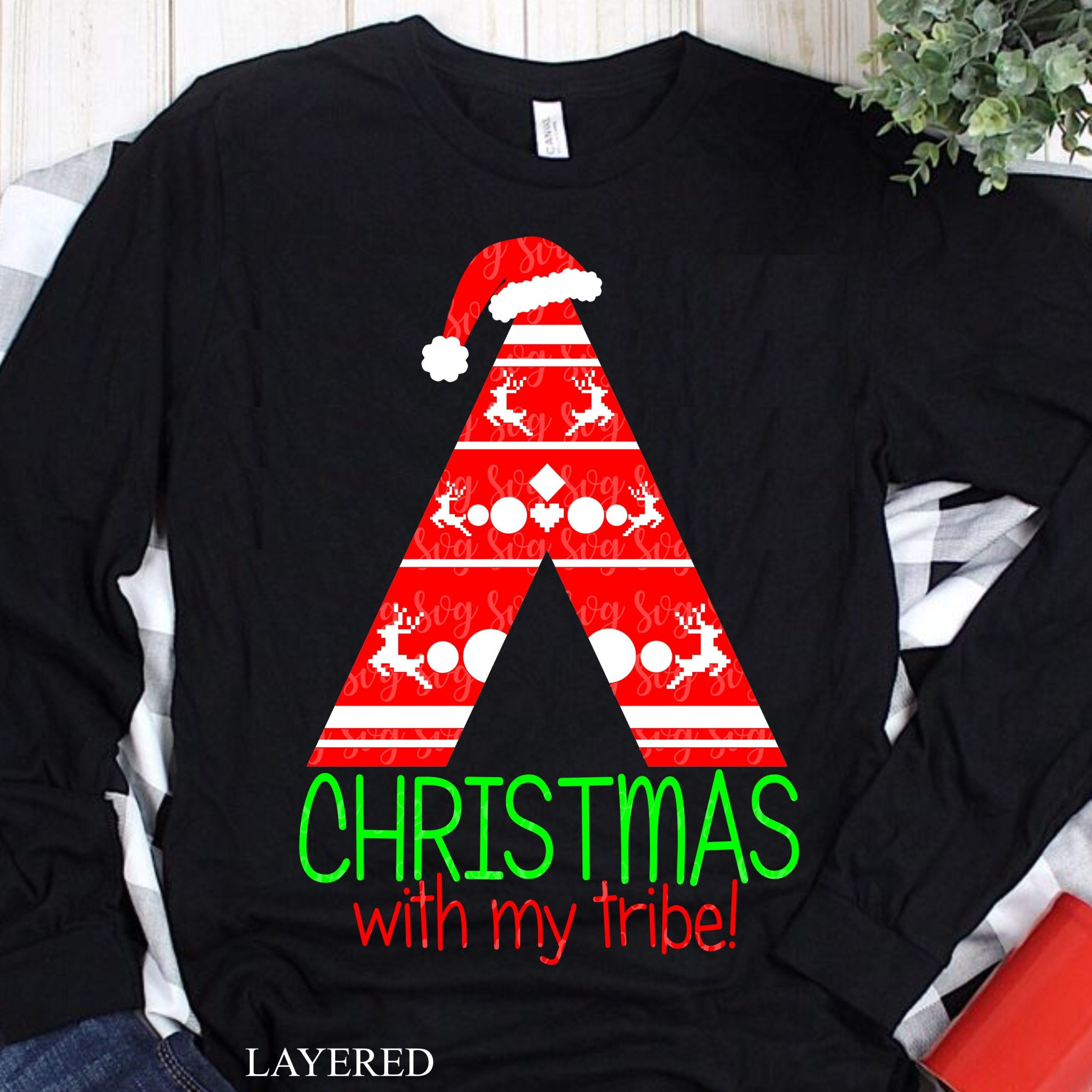 Christmas Svg Christmas With My Tribe Svg Christmas With The Tribe Svg Dxf Eps Tribe Svg Iron On Digital Download Svg For Cricut Svg For Cricut