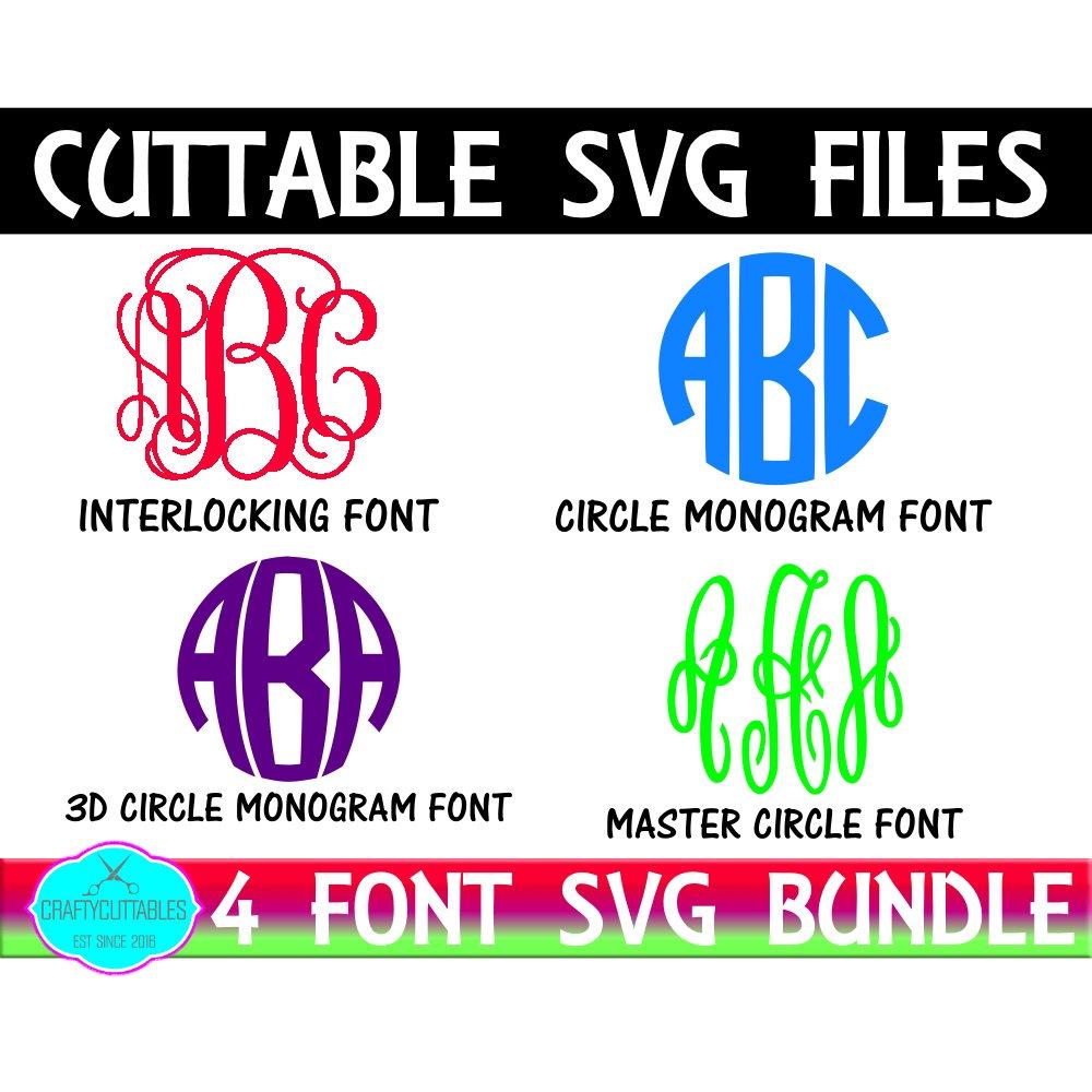 Download Font bundle SVG,Circle Monogram,Fonts,monogram font svg ...
