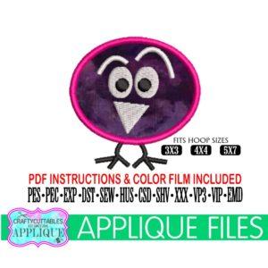 Goofy-bird-appliquebird-appliquebird-embroiderybaby-bird-appliquelittle-bird-embroiderycricut-designssilhouette-designs-5e21d37f
