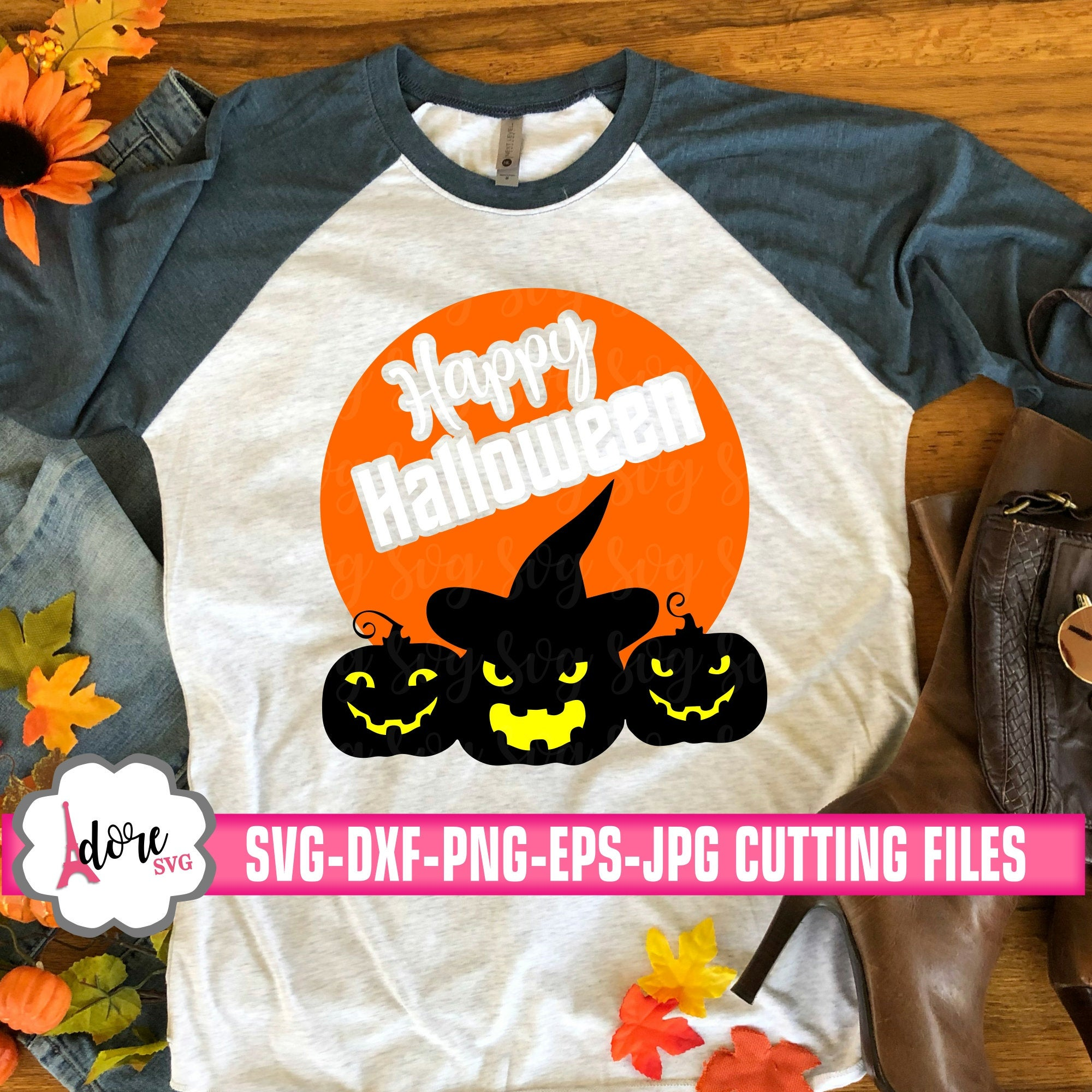 Happy Halloween Svg Witchy Pumpkin Halloween Svg Witch Svg Halloween Svg Svg Pumpkin Svg Digital Download Commercial Use Svg Dxf Svg For Cricut