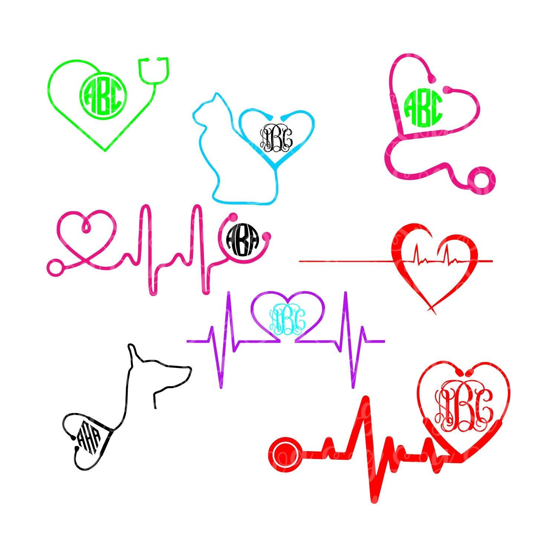 Nurse Svg Stethoscope Svg Nursing Svg Vet Svg Stethoscope Svg Heartbeat Svg Doctor Stethoscope Svg Cricut Design Silhouette Design Svg For Cricut