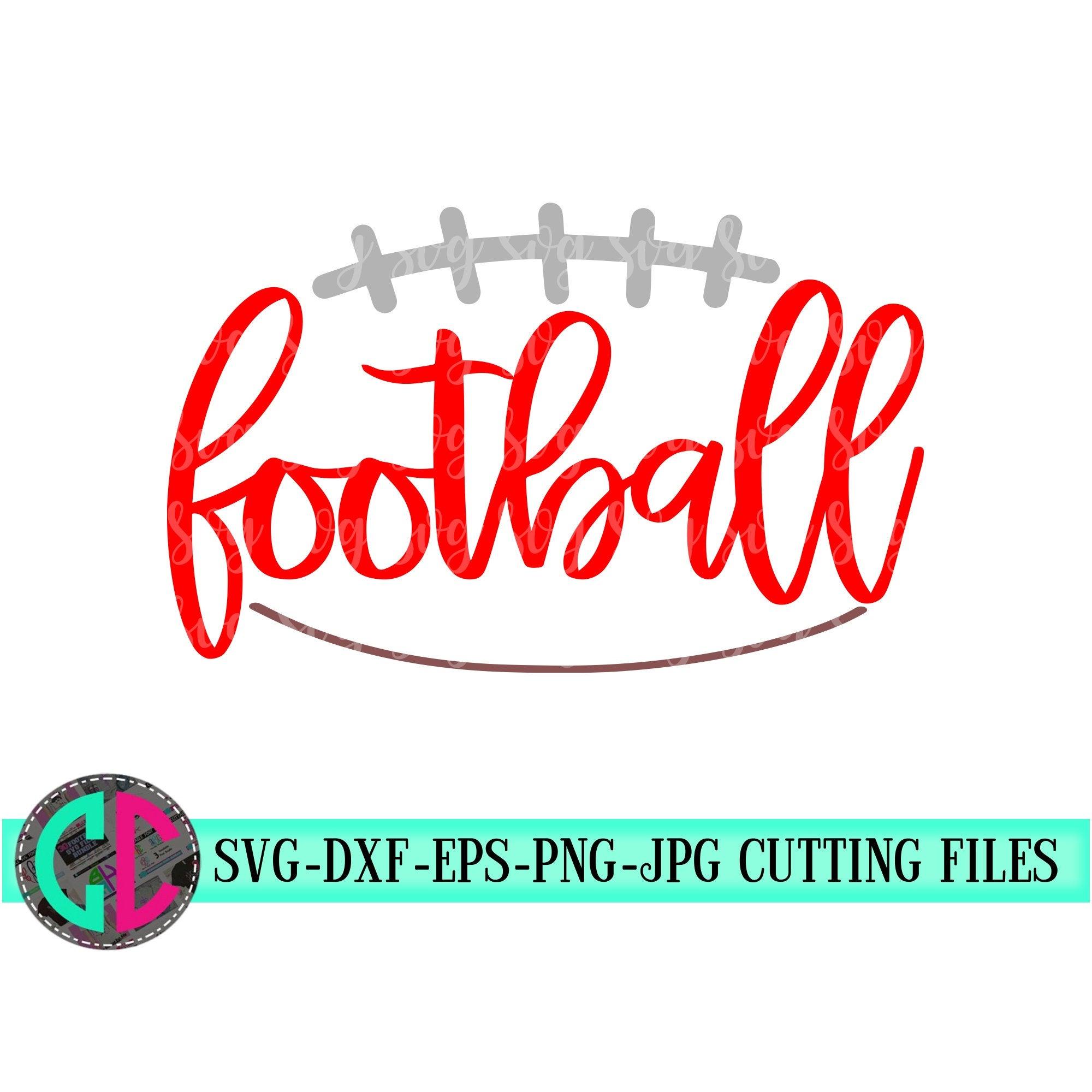 Outline Football Svg Football Cut Files Football Svg Dxf Eps Png Football Svg File Iron On Decal Football Mom Svg For Cricut Svg For Cricut