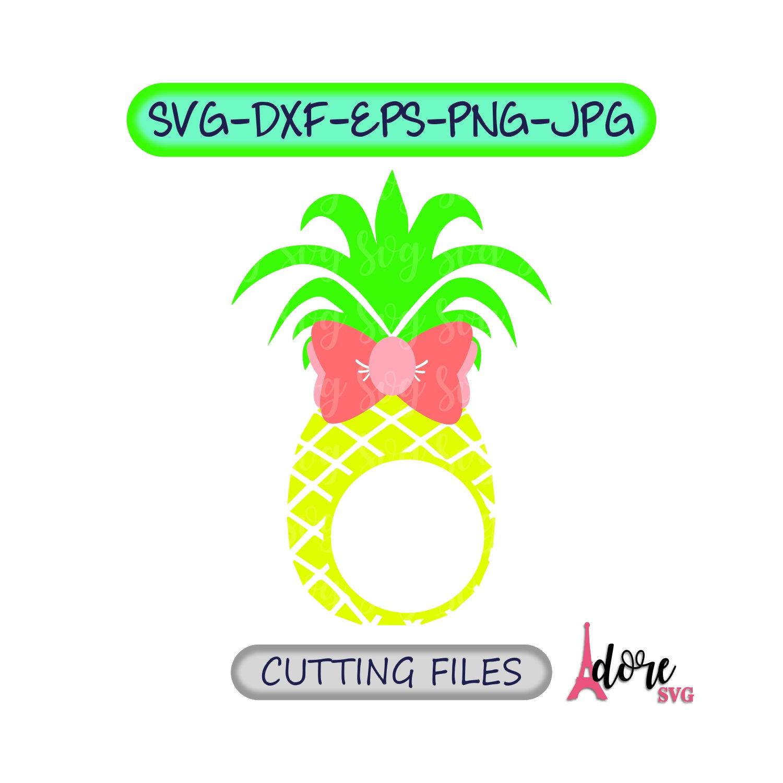 Download Pineapple Monogram svg,Pineapple svg,Bow svg,Monogram svg ...