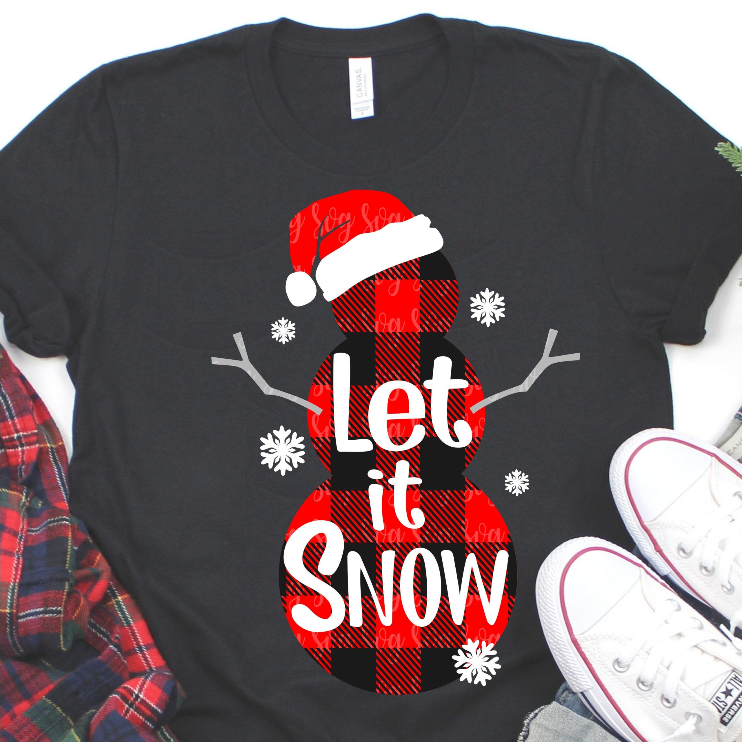 Snowman Svg Buffalo Plaid Svg Let It Snow Svg Winter Svg Cut Files Christmas Svg Snow Svg Snowflake Svg Snow Svg Svg Eps Dxf Svg For Cricut Svg For Cricut