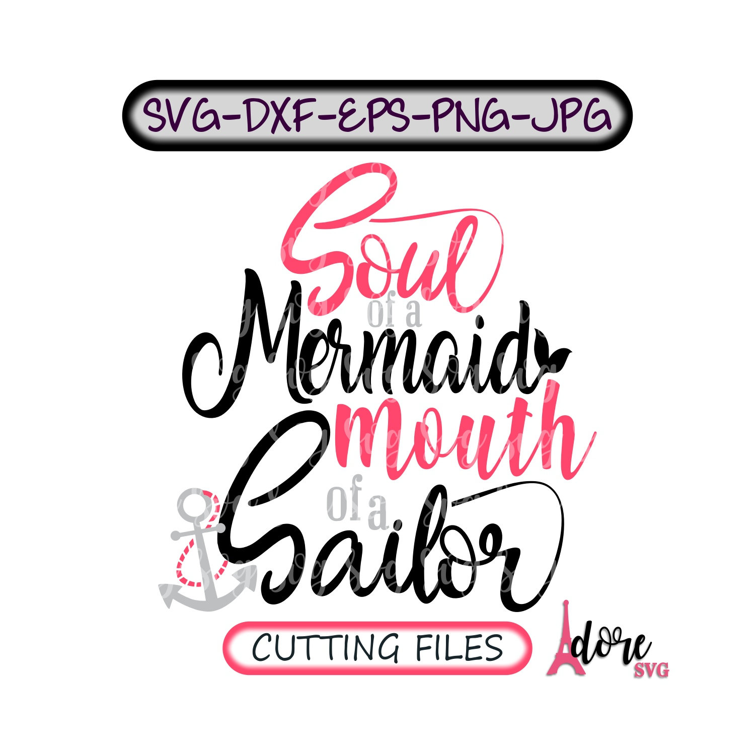 Soul Of A Mermaid Svg Mouth Of A Sailor Svg Sailor Svg Funny Svg Funny Quote Svg Svg Designs Mermaid Svg Svg Cut Files Cricut Cut Files Svg For Cricut