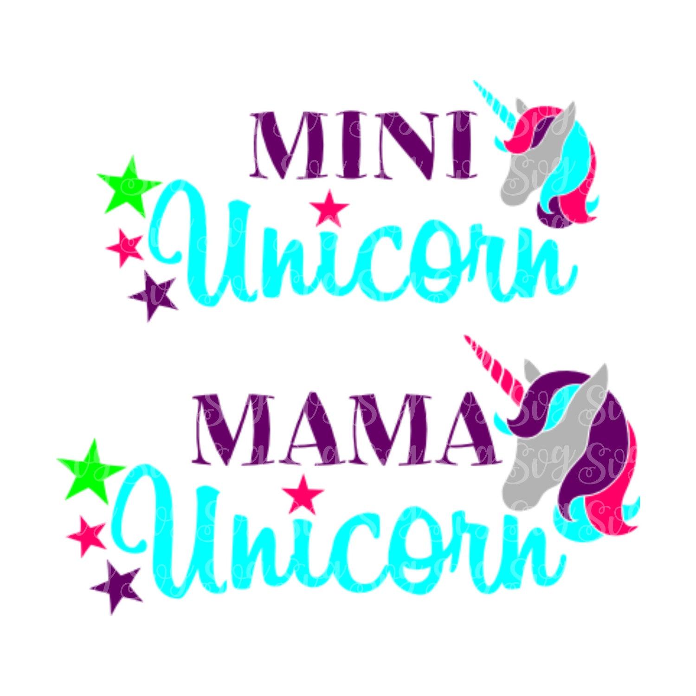Unicorn Mama Svg Unicorn Daughter Svgs Unicorn Svg Unicorn Designs Unicorn Designs Cricut Designs Silhouette Designs Svg For Cricut