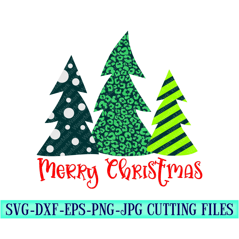 Download merry christmas trees Svg, christmas tree, stripe tree svg ...